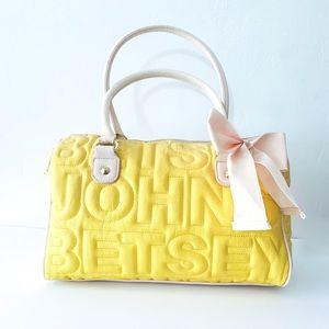 Yellow Betsey Johnson bag